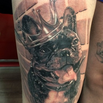 bulldogfrenchie corona tattoo