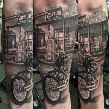 gasolinera tattoo bruselas