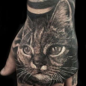 gato mano tattoo copia
