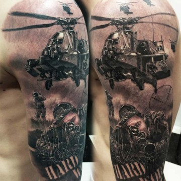 helicoptero tattoo