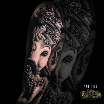 tattoo ganesha evo